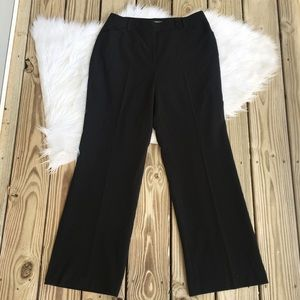 Ann Taylor Wide Leg Lined Flat Front Career Pants